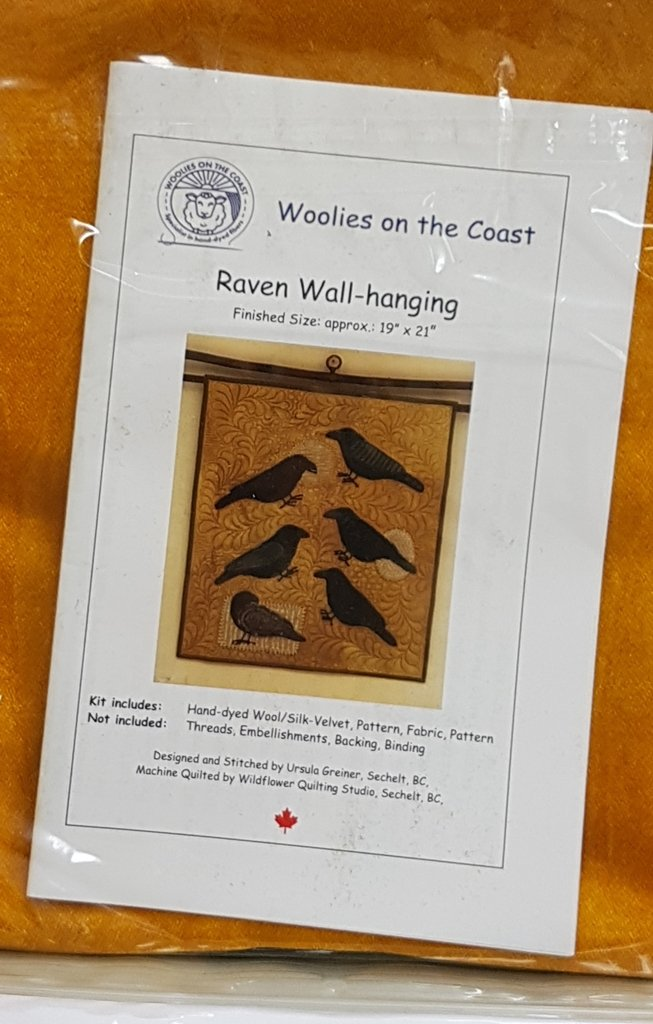 Raven Wall Hanging Kit - Woolies on the Coast