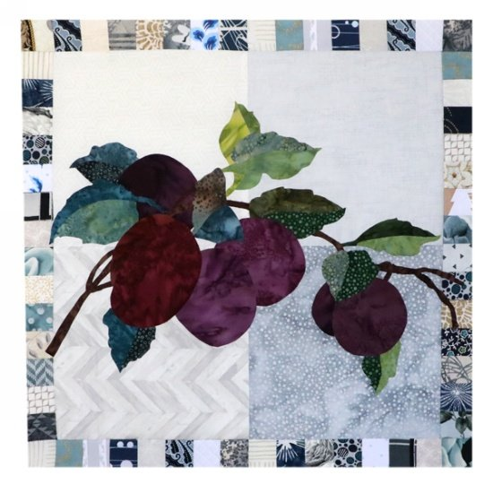 Monthly Block - Simply Delicious by Hoffman - Plum