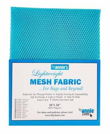 Mesh Lite Weight Parrot Blue 18in x 54in
