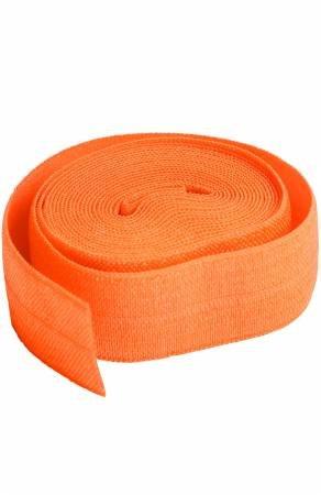 Fold-over Elastic 3/4in x 2yd Pumpkin