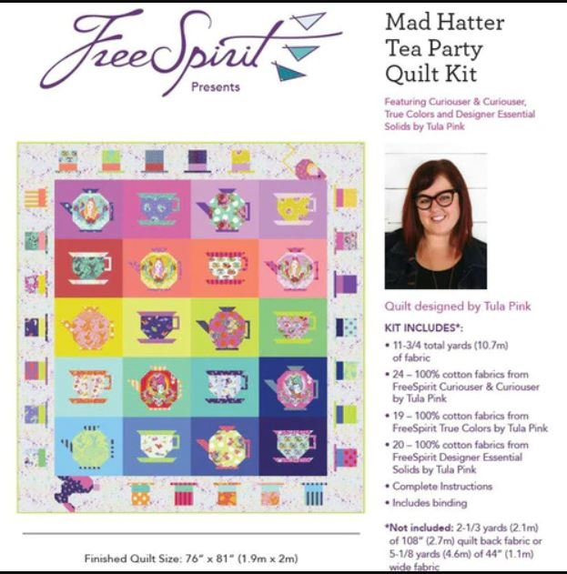 Quilt Kit - Mad Hatter Tea Party - Pre-Order April 2021