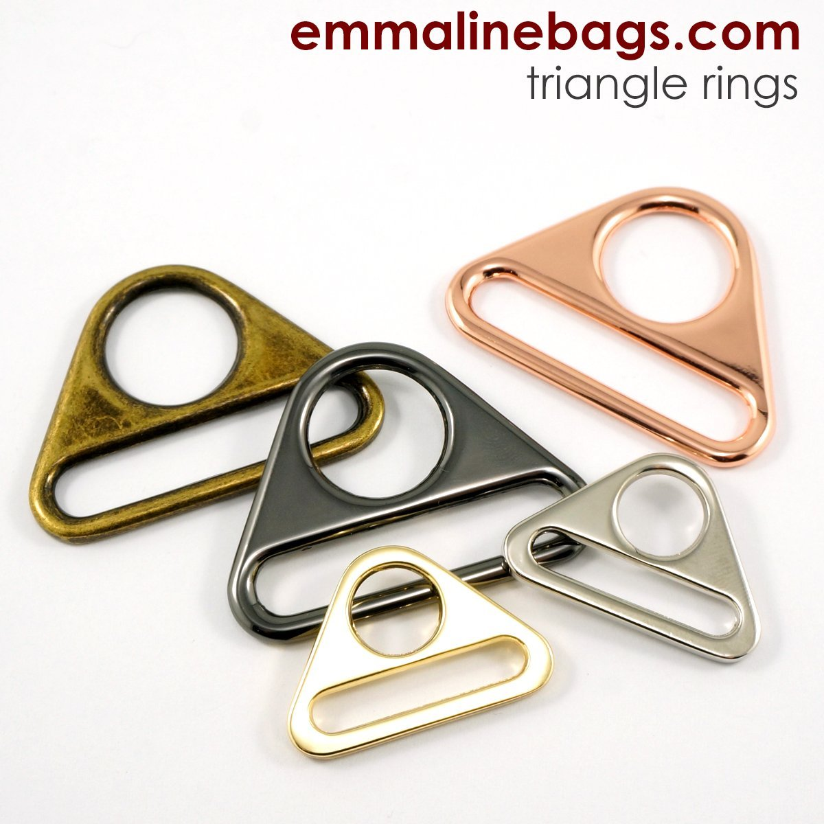 Triangle Rings: 1 (25mm) 2 pack - Nickel