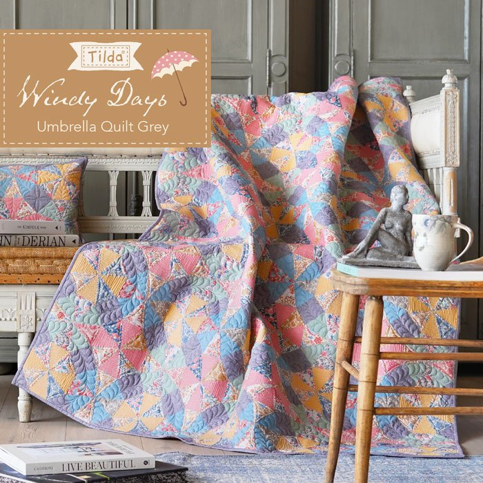 Umbrella Quilt Grey Pattern - Free Download