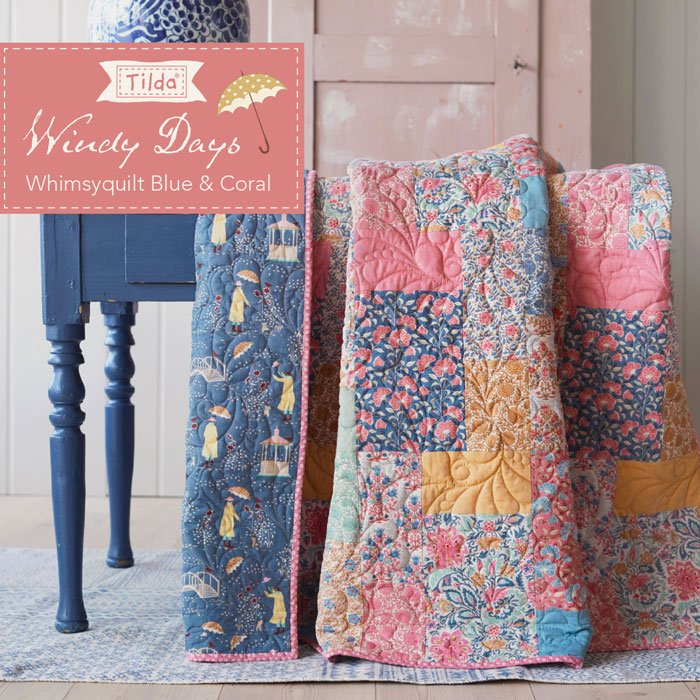 Whimsy Quilt Blue Pattern - Free Download