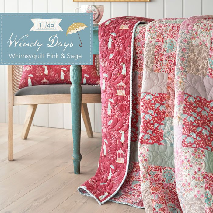 Whimsy Quilt Pink Pattern - Free Download