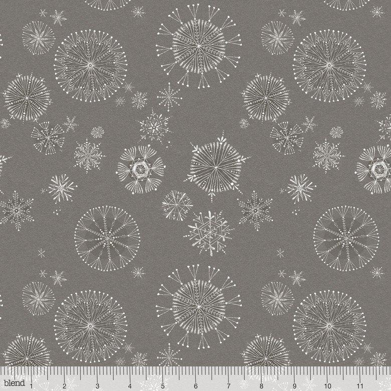 Snow Day Snow Fun in grey
