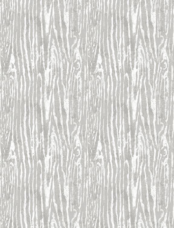 Woodland Friends Woodgrain in grey