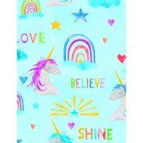 Sparkle Magic Shine Unicorn Words from Wilmington Prints