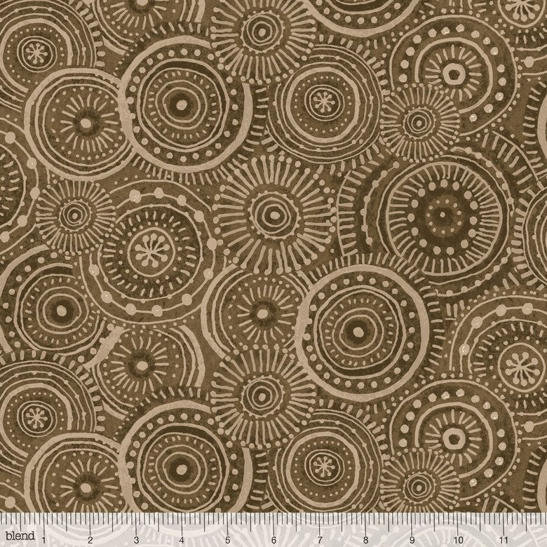 Adventurers Ripples in Brown- Cori Dantini for Blend Fabrics