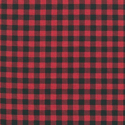 Burly Beavers Buffalo Plaid in red