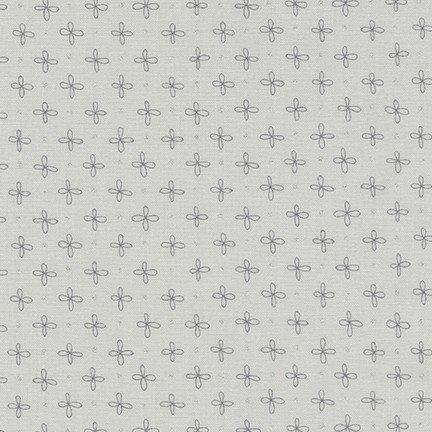 Wayside Silver Flower Dot in grey