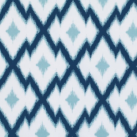 Aztec Ikat in Deep Water by Joel Dewberry for Free Spirit