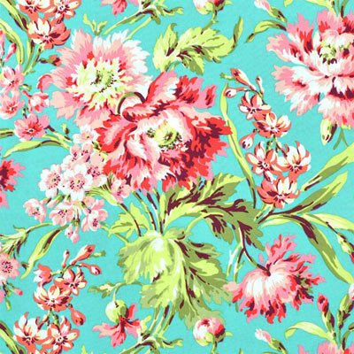 Bliss Bouquet in Teal - Love Collection by Amy Butler
