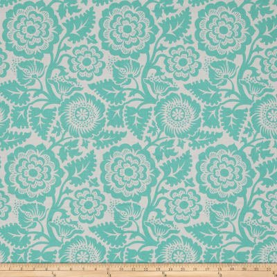 Heirloom Blockprint Blossom in Aqua