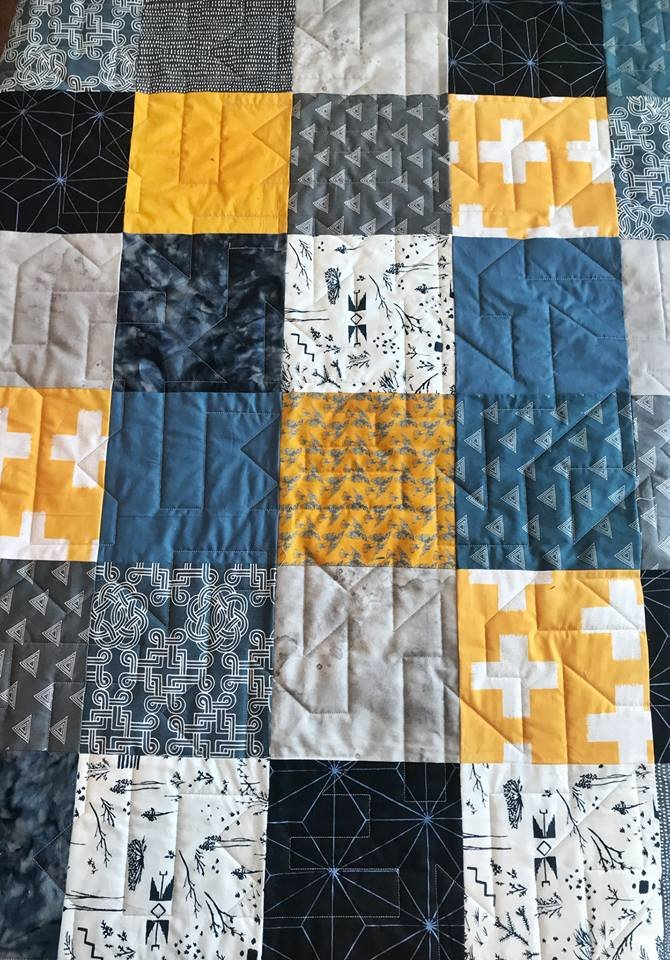 Blue and Gold Patchwork Kit