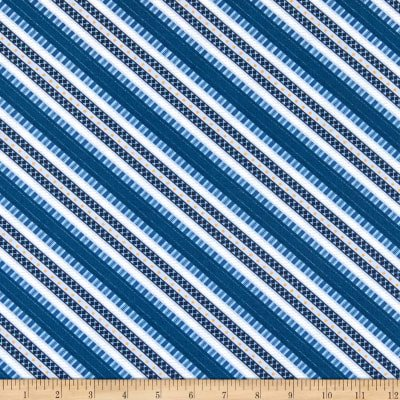Blue Ticking Stripe