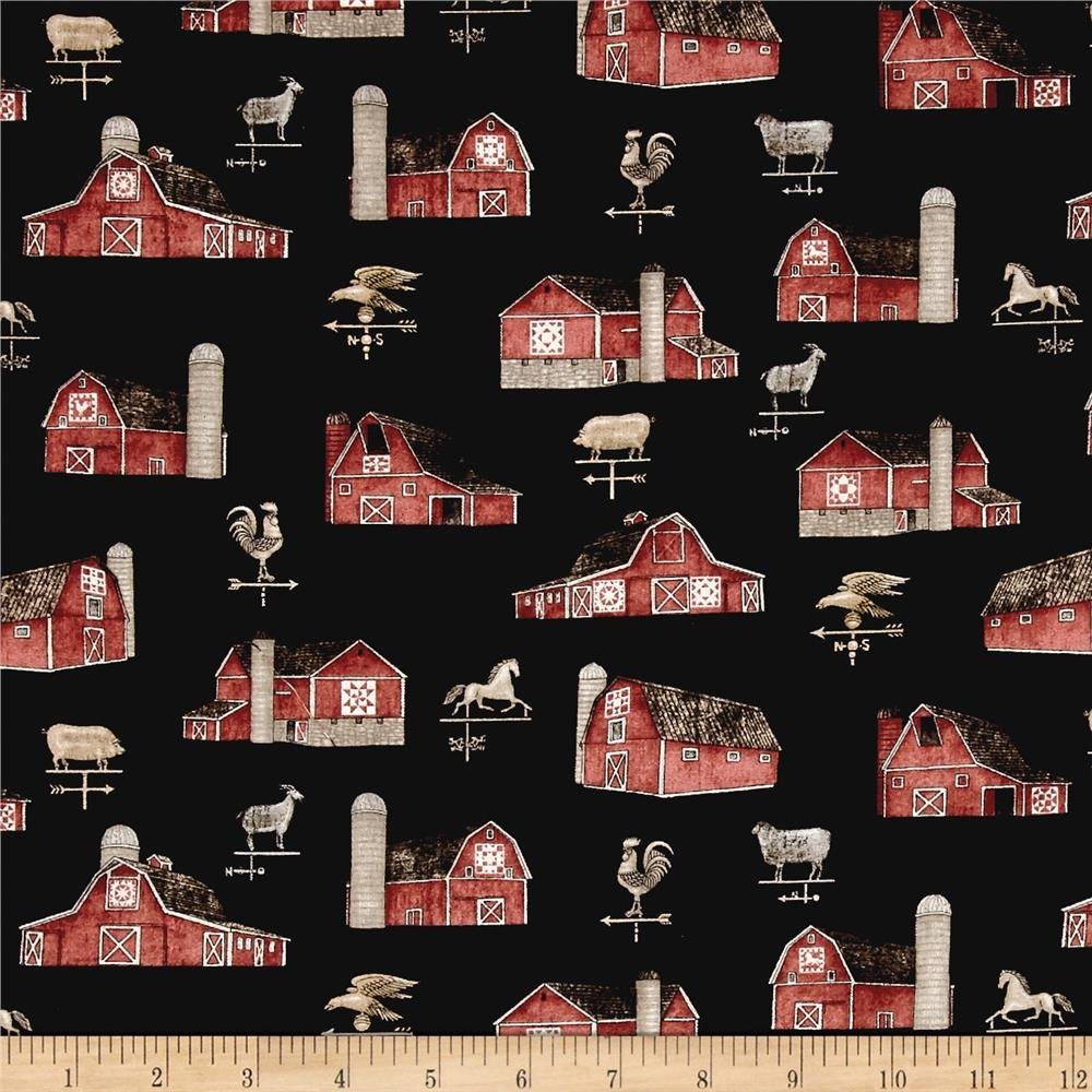 Bountiful Barns in Black by QT