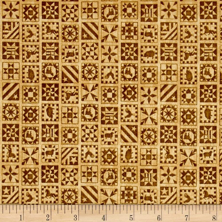 Bountiful Quilt Blocks in Tan