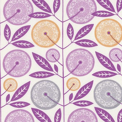 Cali Mod Floral Stock in Lavender by Joel Dewberry -- 100% RAYON