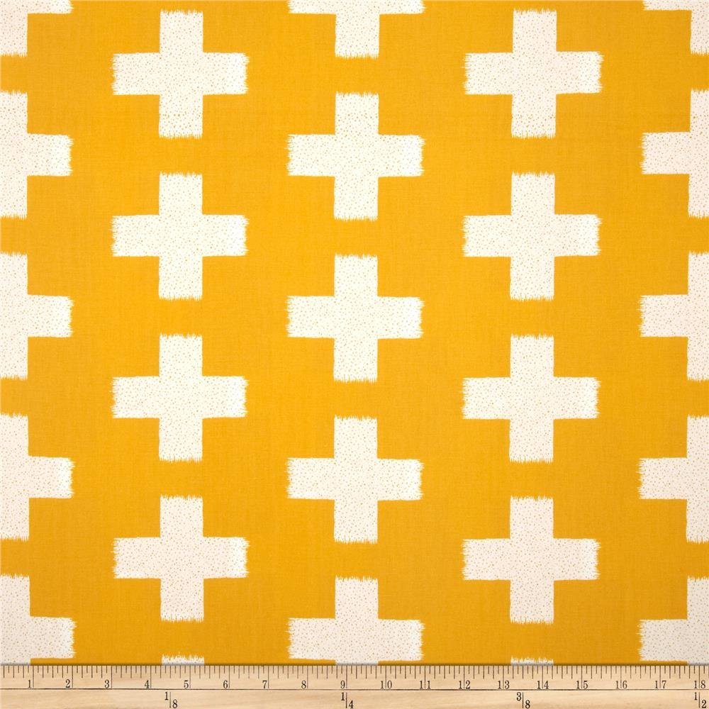 Crossed Impressions Solar in Yellow