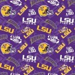 NCAA-Louisiana State Tigers Tone on Tone Cotton