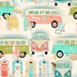 Beach Travel Vintage Bus