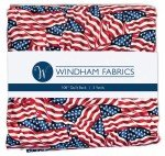 3 Yard Precuts, American Flags, 108in Wide