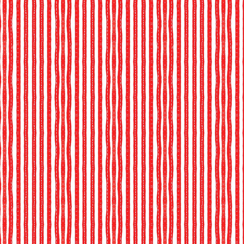 America the Beautiful Stitched Stripe in Red