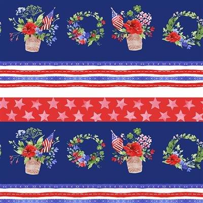 America the Beautiful Pictoral Stripe