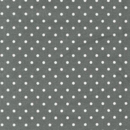 Cozy Cotton Flannel Grey Polka Dots