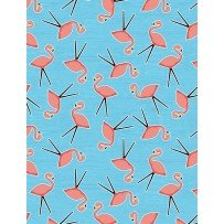 Let's Go Glamping- Flamingo Toss Blue