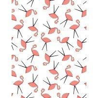 Let's Go Glamping- Flamingo Toss White