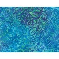 Floral Mix Blue/Green Batik