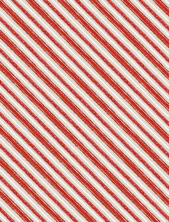 Friendly Gathering -- Stripes in Red/Taupe