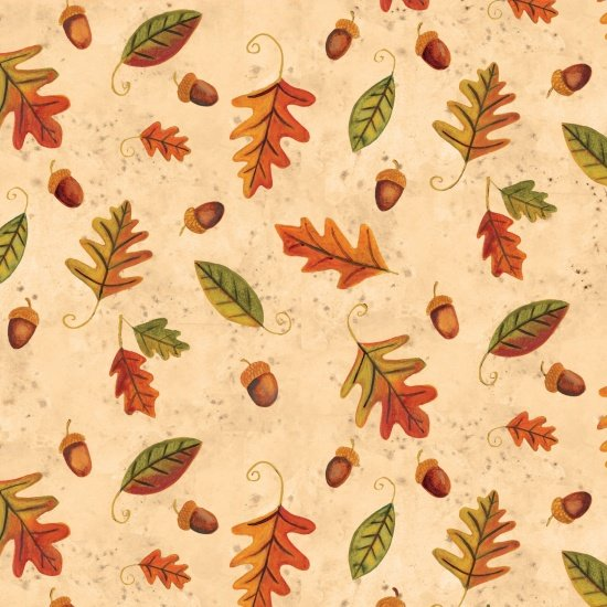 Give Thanks Leaves in Ivory