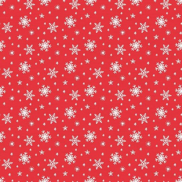 Gnome Noel Snow Flakes - Red
