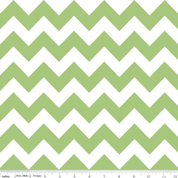Medium Chevron in Green C320-30