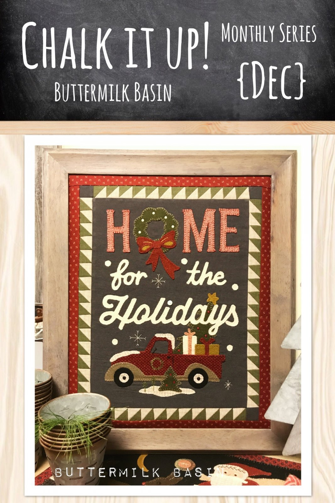 Home For The Holidays Kit with Pattern