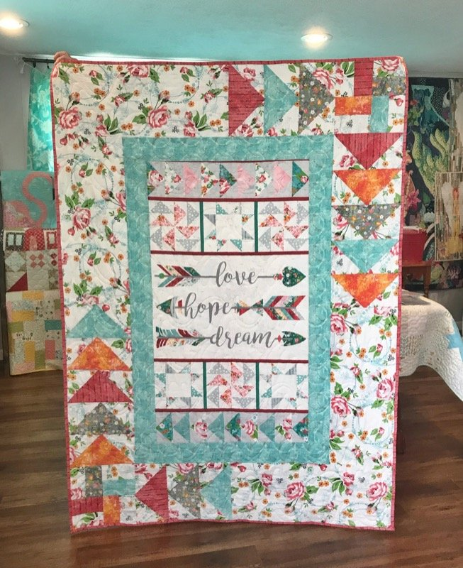 Roses and Arrows Quilt Fabric Kit