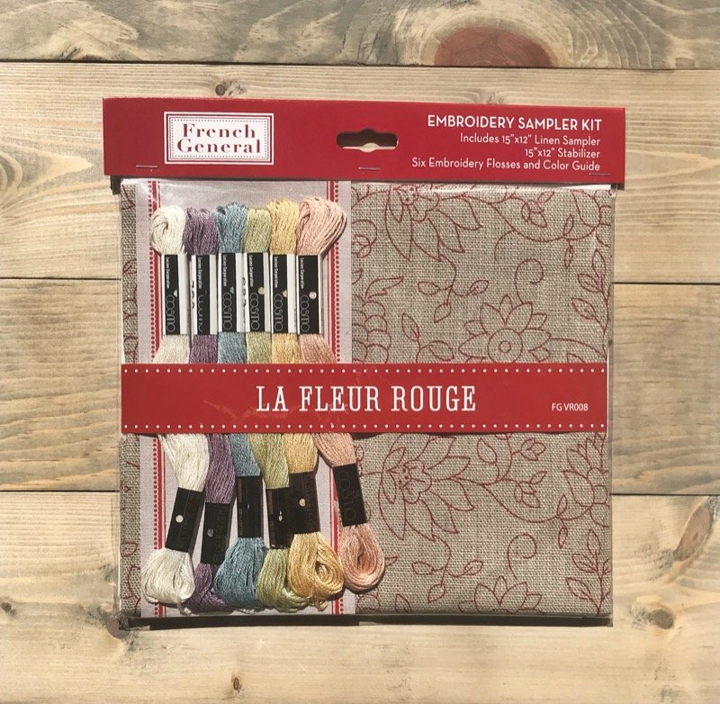La Fleur Rouge -- French General Embroidery Kit