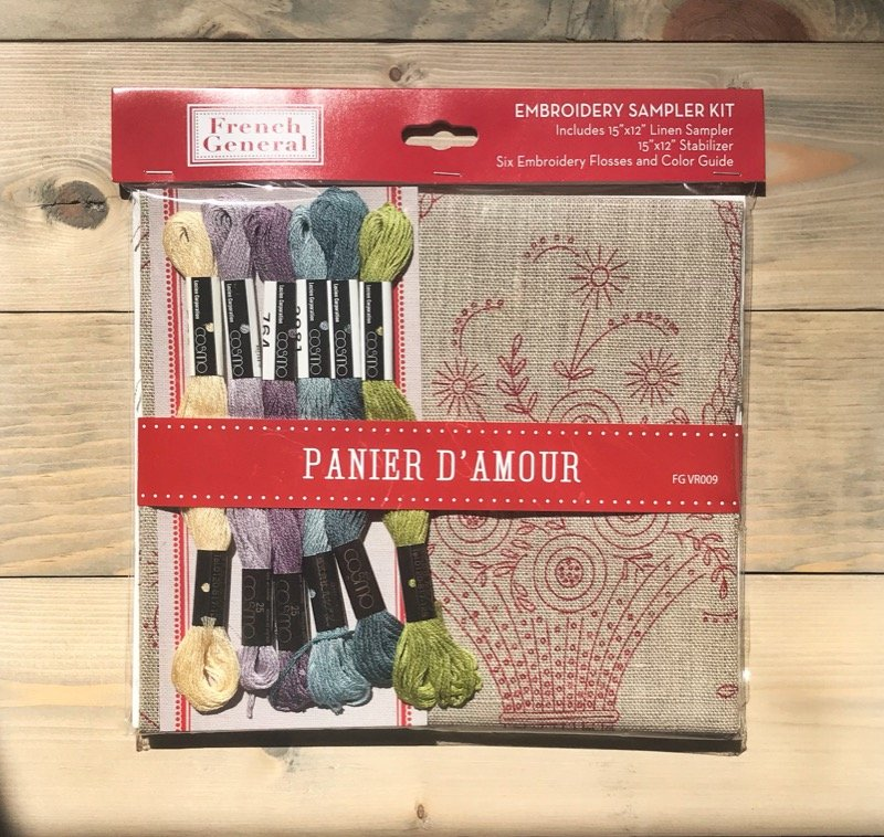 Panier D'Amour -- French General Embroidery Kit