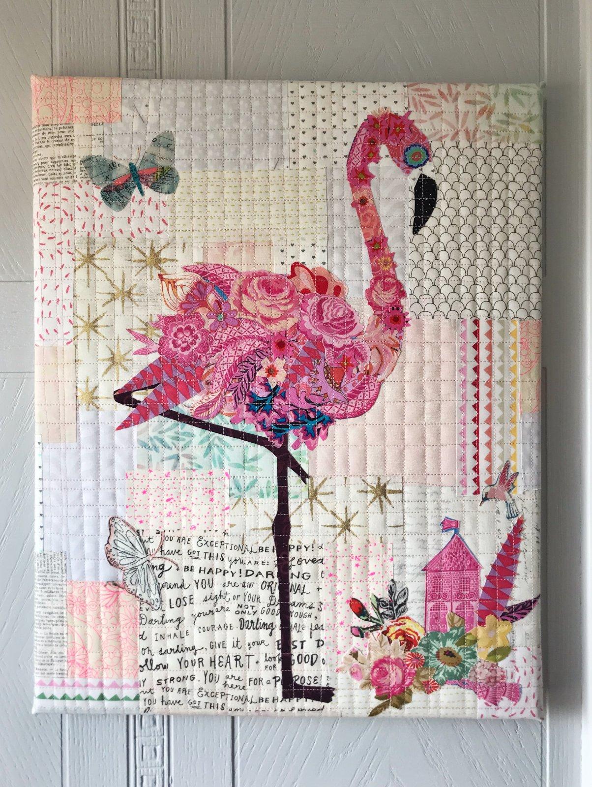 Mini Flamingo Collage Kit