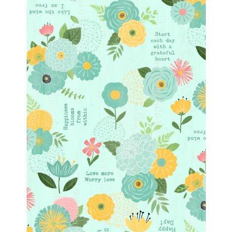 Aqua Florals & Sentiments
