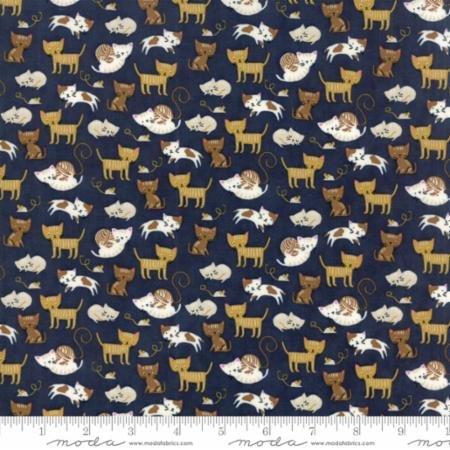 Woof Woof Meow Navy - Kitties