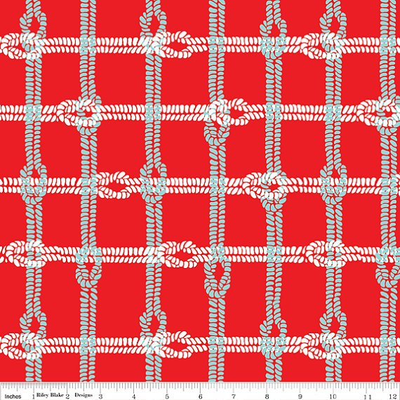 Maritime Modern Knotty Plaid in Red