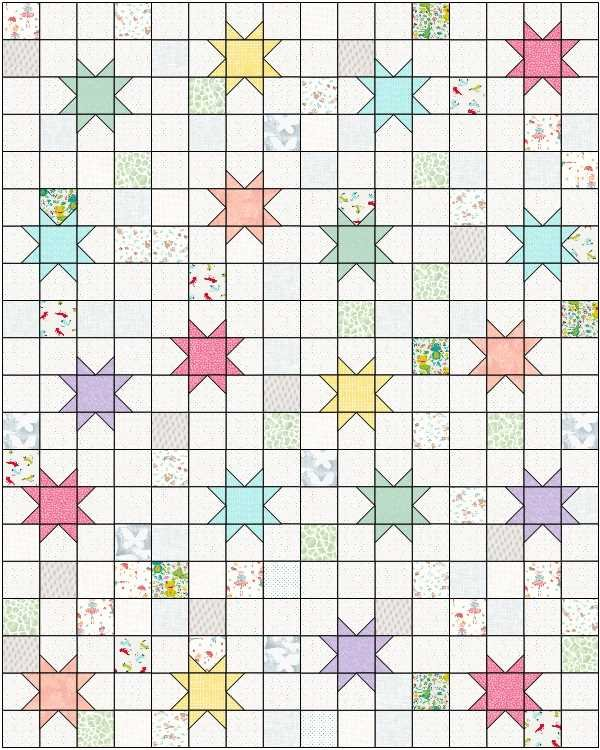 Macaroon Stars Fabric Kit