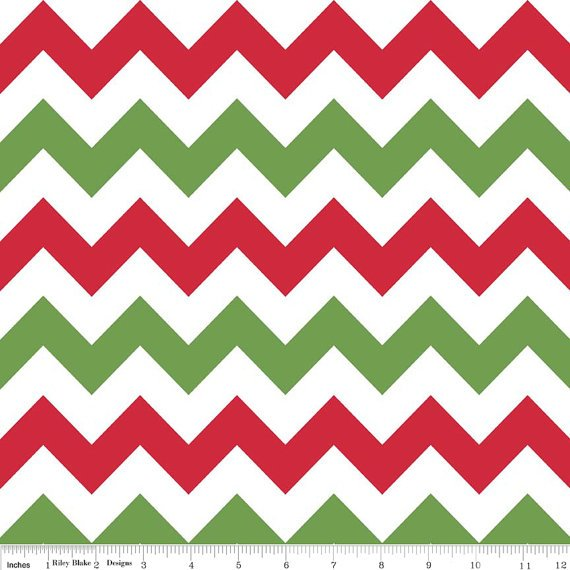 Medium Chevron Christmas Red & Green