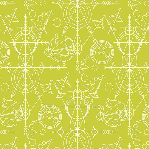 Sun Print Geometric in Mercury Green by Alison Glass