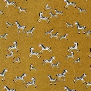 Mini Zebras in Gold by Timeless Treasures