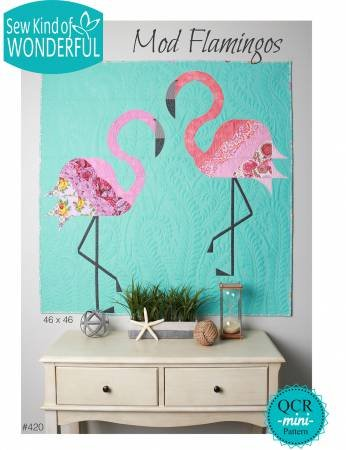 Mod Flamingos Starter Fabric Kit